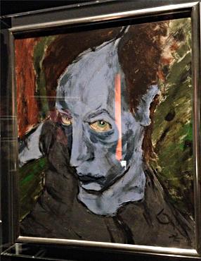 Head of James Osterberg, alias Iggy Pop. David Bowie, 1976. Photo: Valérie Maillard