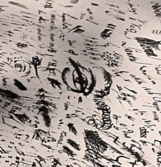 Détail d'un brouillon de Balzac. photo: Les Soirées de Paris