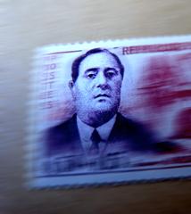 Effigie d'Apollinaire sur un timbre poste. Photo: Les Soirées de Paris