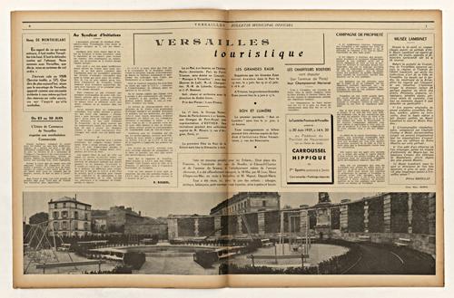 Le square des Francines dans le bulletin municipal de 1957. Source image: Eric Rousset
