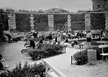 Le square des Francines en 1964. Source image: Eric Rousset
