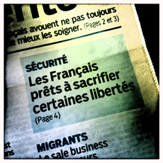 """En """"Une"""" du Parisien daté 18 avril. Photo: LSDP"""