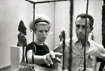 Monica Vitti et Michelangelo Antonioni à la Biennale de Venise de 1962, DR.
