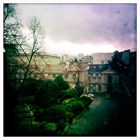La jolie vue depuis la Galerie des Gobelins. Photo: LSDP