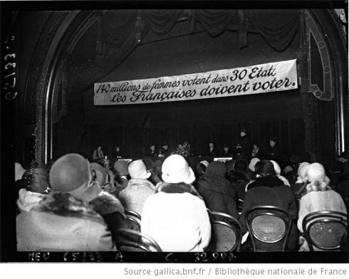 Etats généraux du féminisme en 1929. Agence Meurisse. Source Gallica