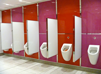 Les toilettes du terminal E. Photo: LSDP