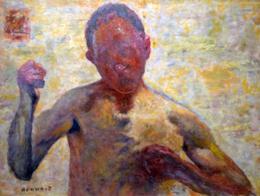 """Bonnard. """"Le boxeur"""", portrait de l'artiste. Photo: Valérie Maillard"""