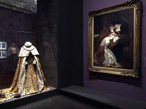 Les Tudors, aspect de l'exposition. Photo: Valérie Maillard
