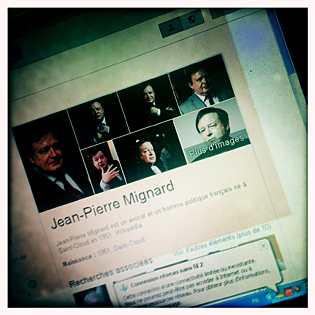 Jean-Pierre Mignard sur Google avec filtre Kodak. Photo: LSDP