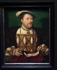 """Henri VIII"""", Joos van Cleve, vers 1530-1535. Photo: Valérie Maillard"""