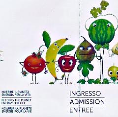 Détail du ticket d'entrée. Exposition universelle. Milan. Photo: Gérard Goutierre