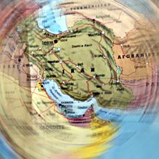 L'Iran sur une carte Michelin. Photo: LSDP