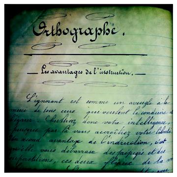 Cahier scolaire de Melle Anna Leobardy. Année 1896/1897. Photo: LSDP
