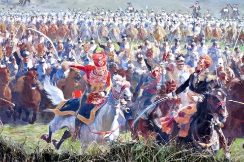 La fresque de la bataille. Photo: Gérard Goutierre