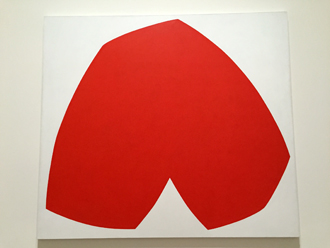 """Red White"", 1962. Ellsworth Kelly. Photo: Valérie Maillard"