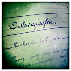 Sur un cahier. Année scolaire 1896/1897. Photo: LSDP