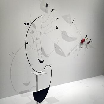 Oeuvres d'Alexandre Calder au Grand Palais. Photo: Valérie Maillard