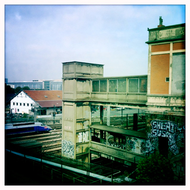 La gare ancienne devenue eun club de karaté. Photo: LSDP