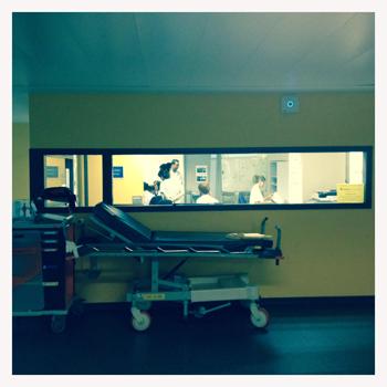 Aux urgences. Photo: PHB/LSDP