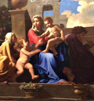 """""""La Sainte Famille à l'escalier"""" (détail), 1648. Photo: Jade Soulet"""