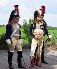 Reconstitution de Waterloo. Photo: Gérard Goutierre