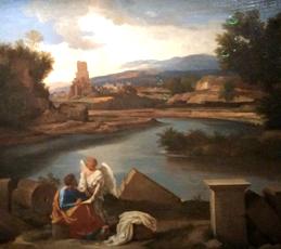 Nicolas Poussin. Paysage avec Saint Matthieu (1640). Photo: Jade Soulet