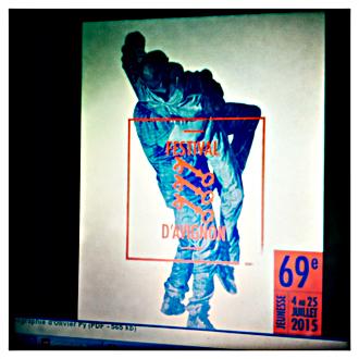 Photo de l'affiche du 69e festival d'Avignon. Photo: PHB/LSDP