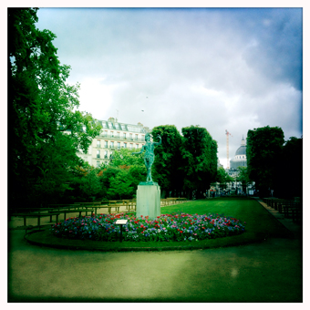Aspect du jardin du Luxembourg. Photo: PHB/LSDP
