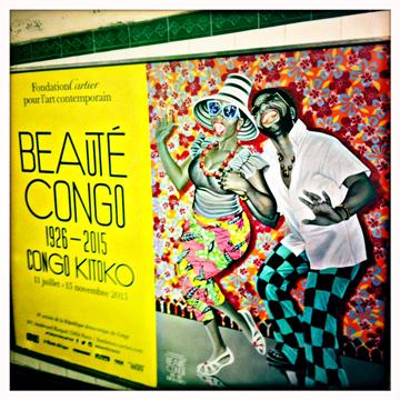 L'affiche de l'exposition dans le métro. Photo: PHB/LSDP