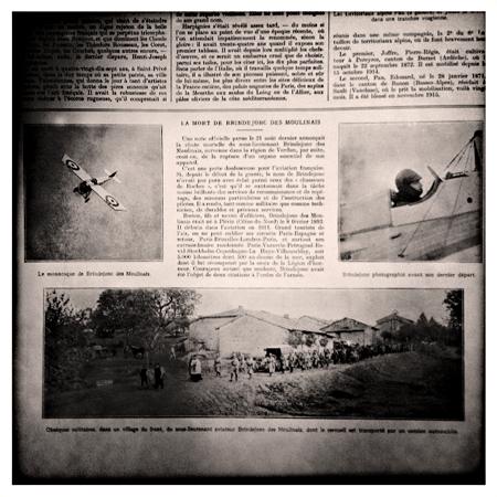 La mort de Marcel Brindejonc des Moulinais, annoncée dans l'Illustration datée du mois de septembre 1916. Photo: PHB/LSDP
