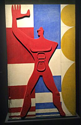"""""""Le Modulor"""", découpe sur panneau peint, 1954. Le Corbusier. Photo: Valérie Maillard"""