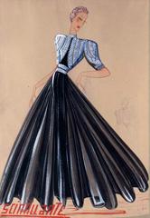 Scintillante-(dessin).1939.©Patrimoine-Lanvin