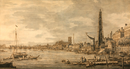 """The City of Westminster from Near the York Water Gate"" (1746-1747). Photo: Valérie Maillard"