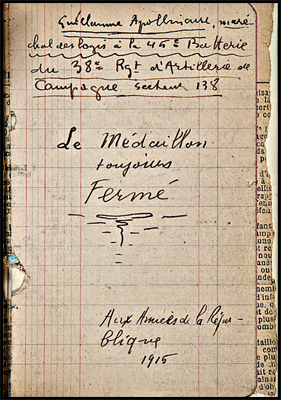 Page intérieure du recueil présentée lors de la vente chez Sotheby's