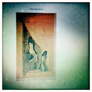 """""""La semaine sainte à Grenade"""".  De Marie Laurencin.Présentation sur écran. Photo: PHB/LSDP"""