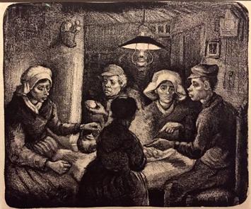 Les mangeurs de pommes de terre. Van Gogh. (1884) Photo: Valérie Maillard
