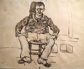 Zouave assis. Van Gogh. Photo: Valérie Maillard