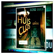 """L'affiche de """"Huis Clos"""" sur le web. Photo: PHB/LSDP"""
