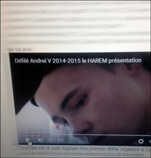 Andrei V lors de sa présentation sur le web. Photo: PHB/LSDP