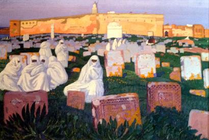 Le cimetière de Rabat (1919) par de Buzon. Musée Landowski.Photo: PHB/LSDP