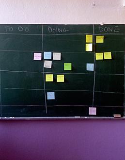 """ambiance salle de classe pour la rédaction de """"The conversation"""". Photo: PHB/LSDP"""