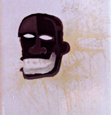 Jean-Michel Basquiat. Sans titre. Sur magnet. Photo: PHB/LSDP 1986.