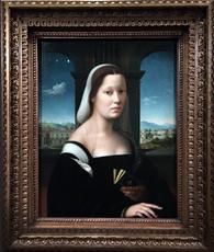 """Dame au voile"", 1510-1515, Ridolfo del Ghirlandaio. Photo: Valérie Maillard"