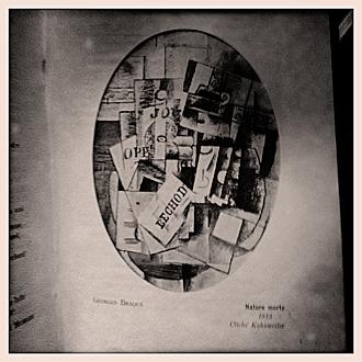 La presse vu par Georges Braque dans le numéro 23 des Soirées de Paris. Photo: PHB/LSDP