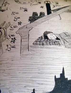 """""""Minuit"""", détail d'une page de l'album. Photo: PHB/LSDP"""