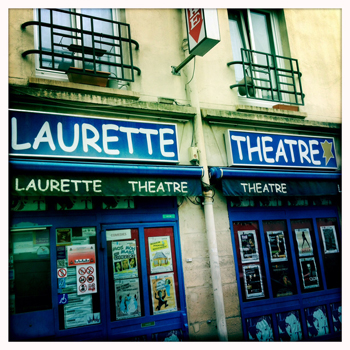 Au Laurette Théâtre, rue Bichat. Photo: PHB/LSDP
