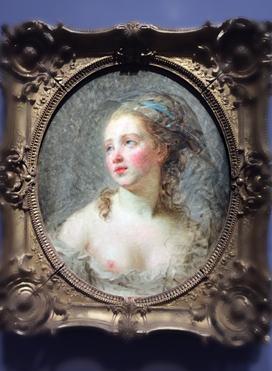 """Jeune femme, figure d'expression"""" (vers 1780-1783). Elisabeth Vigée Le Brun"""