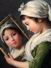 """""""Jeanne Julie Louise Le Brun se regardant dans un miroir"""" (1787). Elisabeth Vigée Le Brun. Photo: Valérie Maillard"""