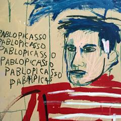 """""""Sans titre, Pablo Picasso"""" (1984), Jean-Michel Basquiat. Détail. Photo: Valérie Maillard"""
