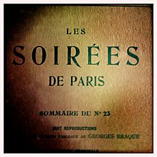 Les Soirées de Paris. Couverture du numéro 23. Photo: PHB/LSDP